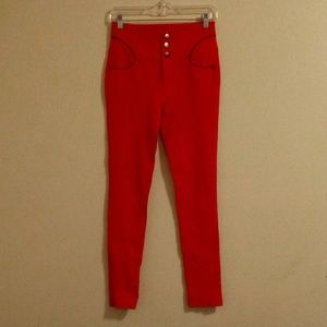 Ci Sono  Red Skinny Pants